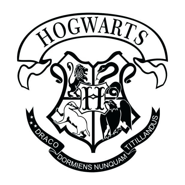 618x618 Hogwarts Crest Coloring Page Pin Drawn Log Breathtaking