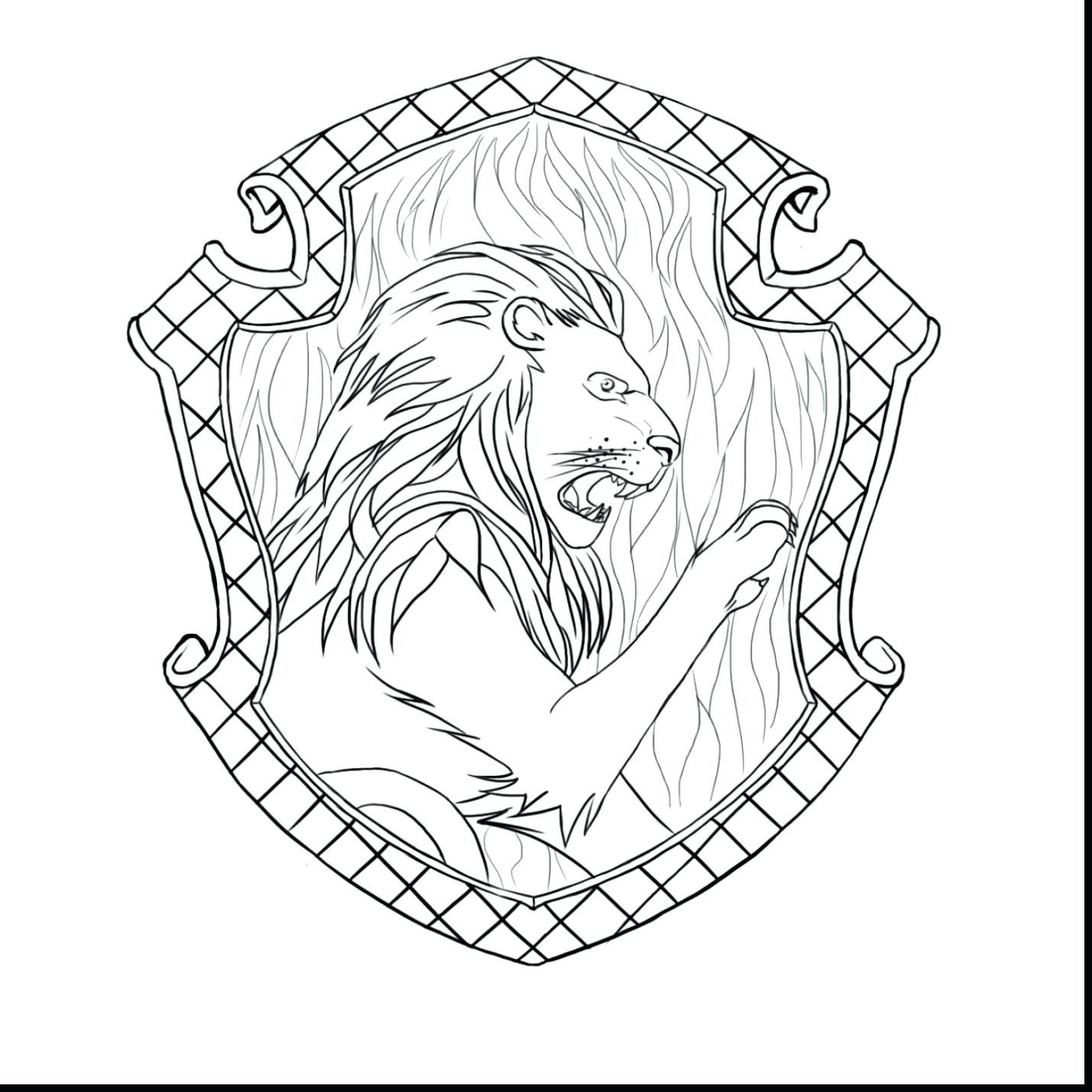 1430x1430 Incredible Ravenclaw Crest Coloring Page