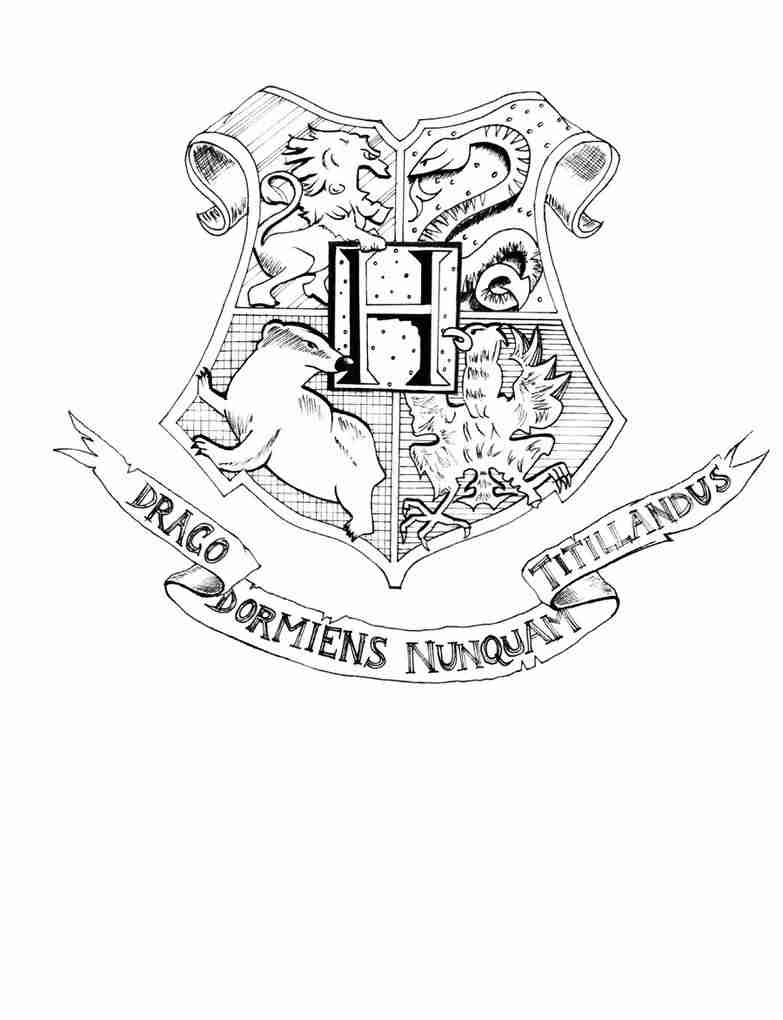 783x1020 Best Of Hogwarts Crest Coloring Page Wallpapers Free Online