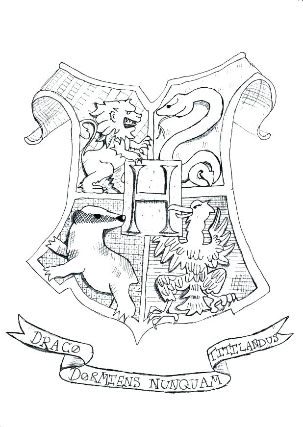 618x871 Coloring Pages Houses Hogwarts Houses Coloring Pages Houses
