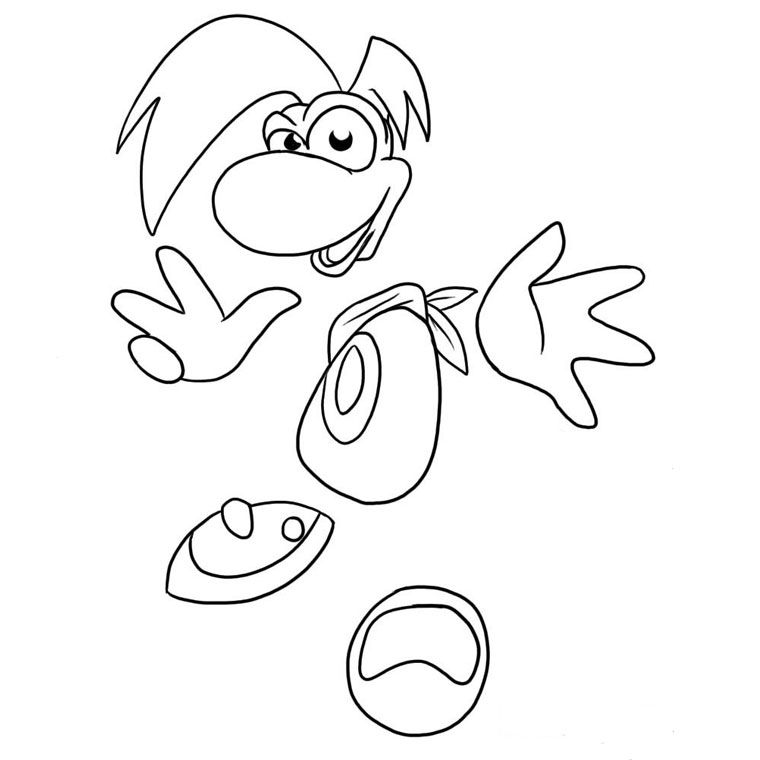 Rayman Legends Coloring Pages