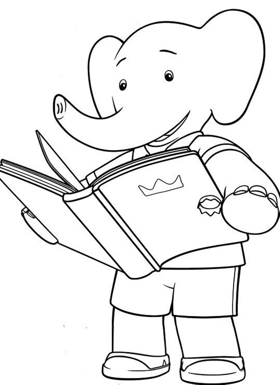 Reading Books Coloring Pages