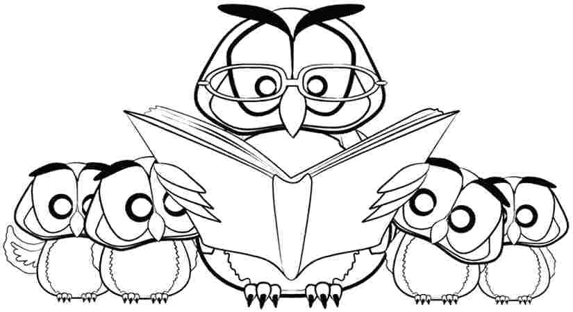 825x450 Cute Owl Coloring Pages To On Coloring Pages Books Book Kids