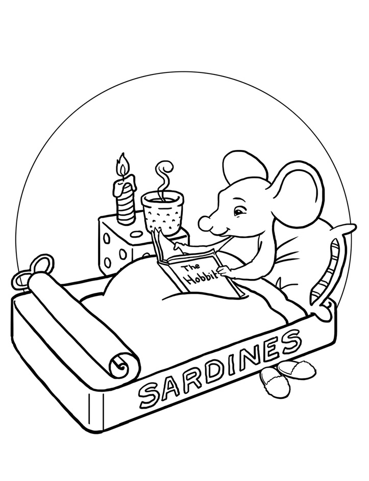 723x943 Mice Reading Books Coloring Pages For Kids