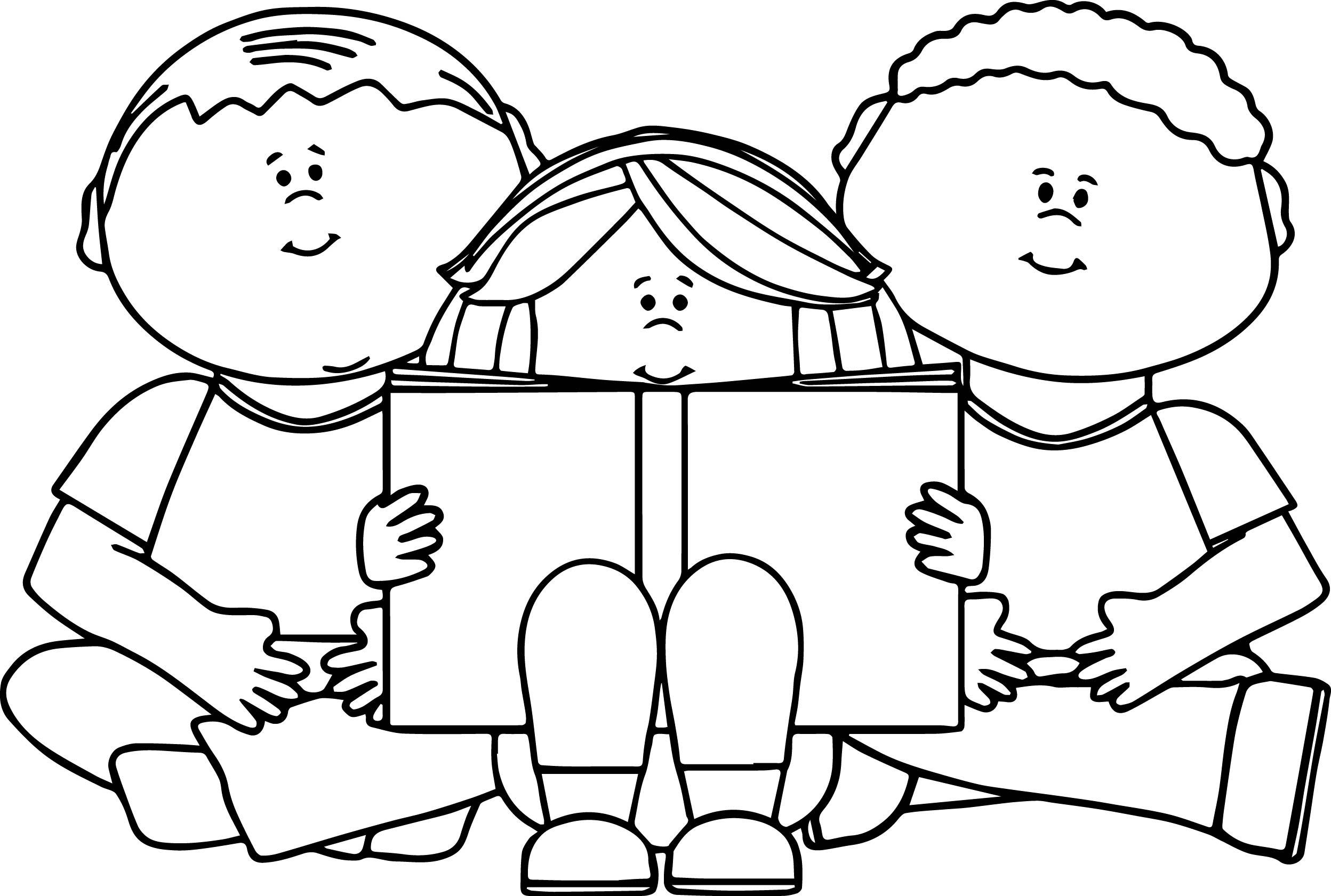 2496x1681 Reading Books Coloring Pages