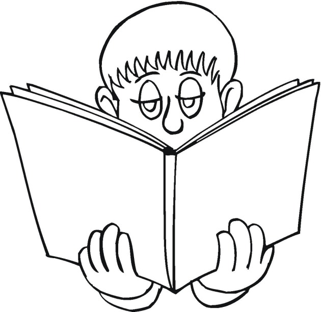 630x614 Reading Coloring Pages Free Reading Coloring Pages
