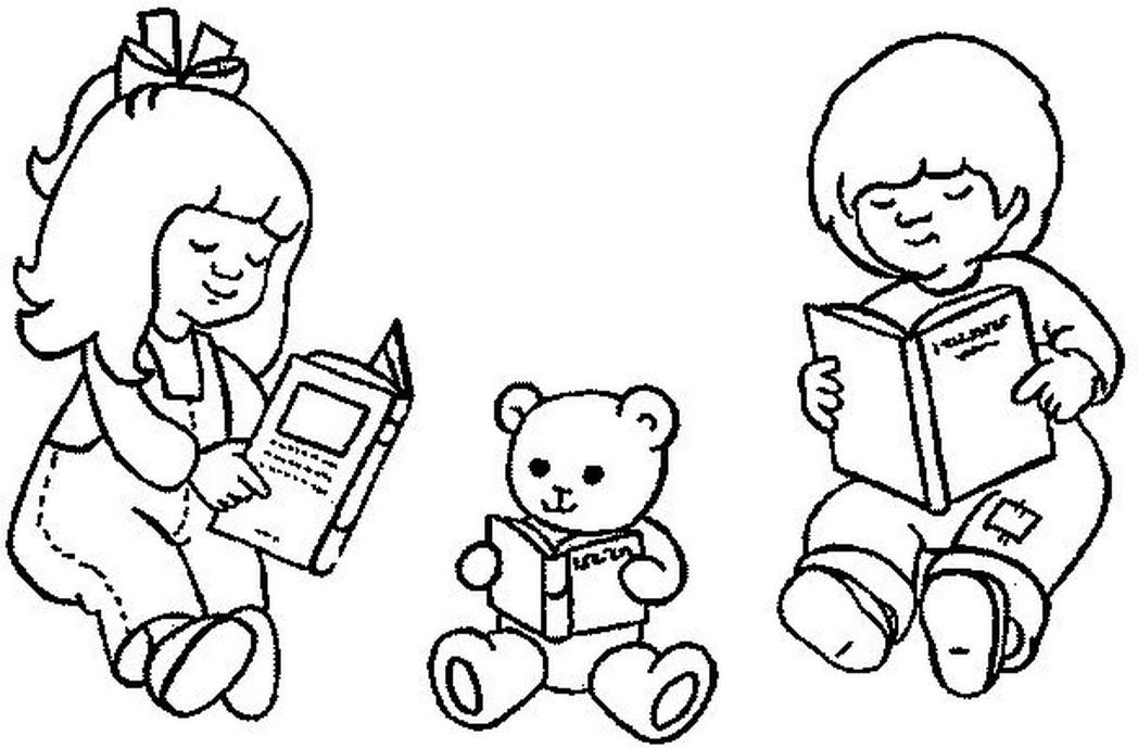 1048x689 Boy And Girl Read Book Coloring Pages Coloring Pages