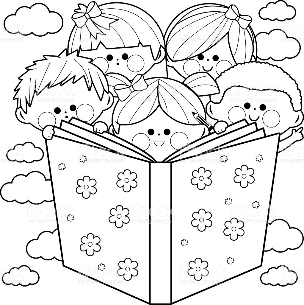 1022x1024 Children Reading A Book Fabulous Coloring Books For Boys