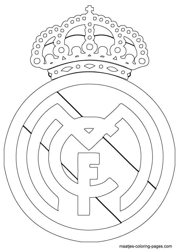 595x842 Real Madrid Logo Coloring Page Shoes Real Madrid