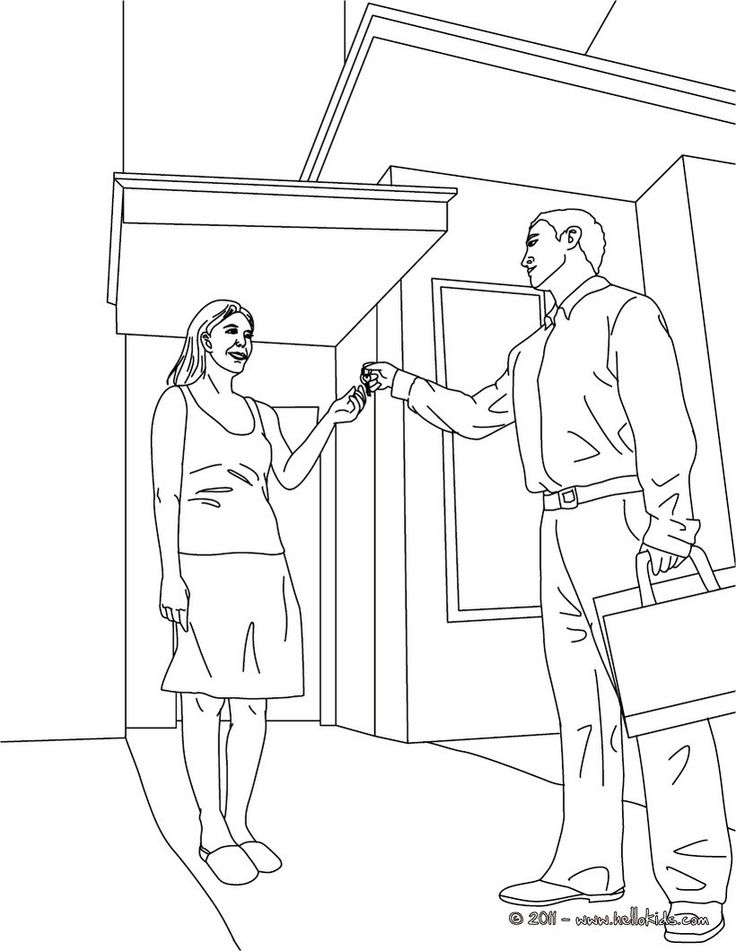 Real Estate Coloring Pages