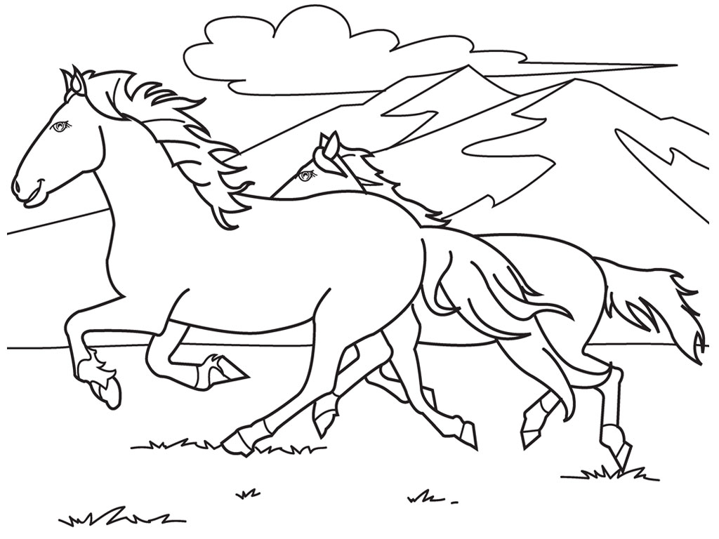 Real Horse Coloring Pages At GetDrawings