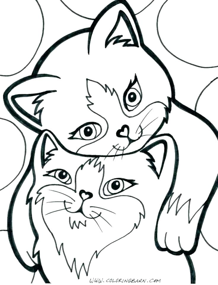 736x960 Cute Kitten Coloring Pages Cute Kitten Coloring Pages Cute Kitten