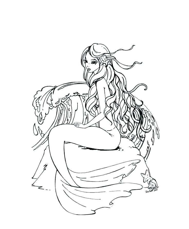 736x891 Coloring Pages Mermaid Barbie Online Color Little Pa The Little