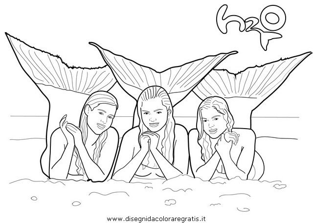 640x456 Mako Mermaids Coloring Pages