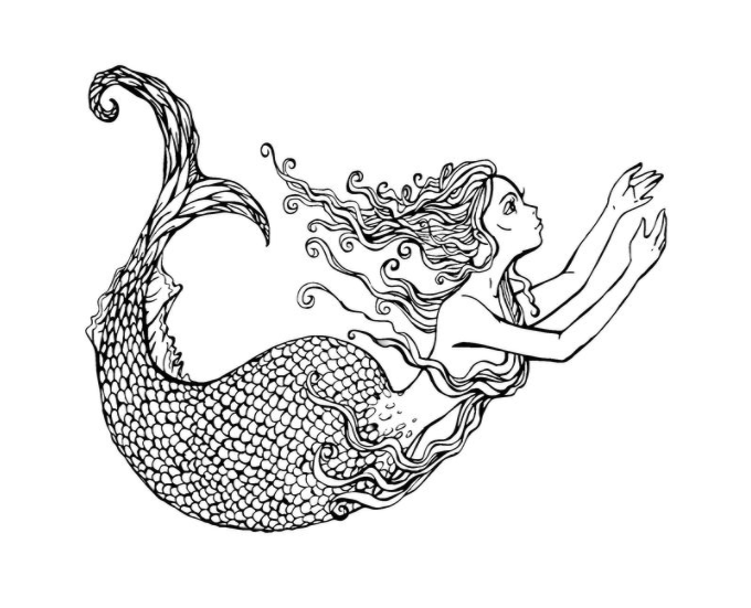 680x551 Mermaid Coloring Pages And Books For Adults And Children