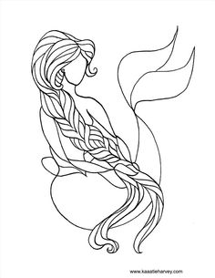 236x305 Real Mermaids Coloring Pages How To Draw A Mermaid Step