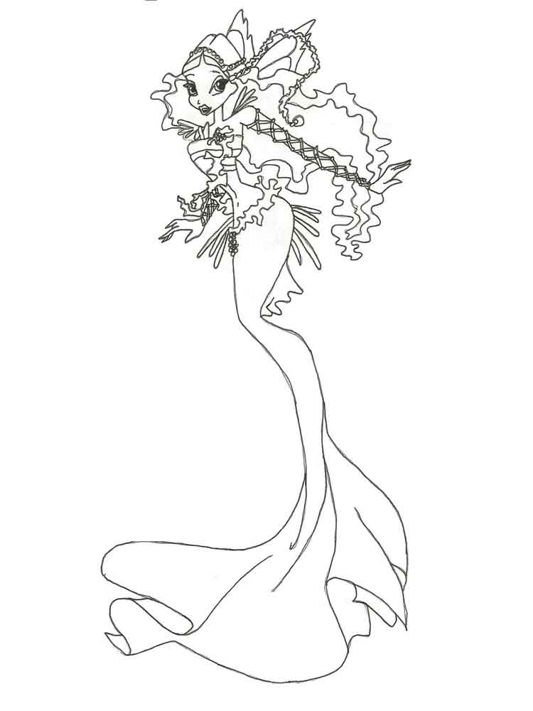 750x1000 Winx Mermaid Coloring Pages Free Printable Winx Mermaid Coloring