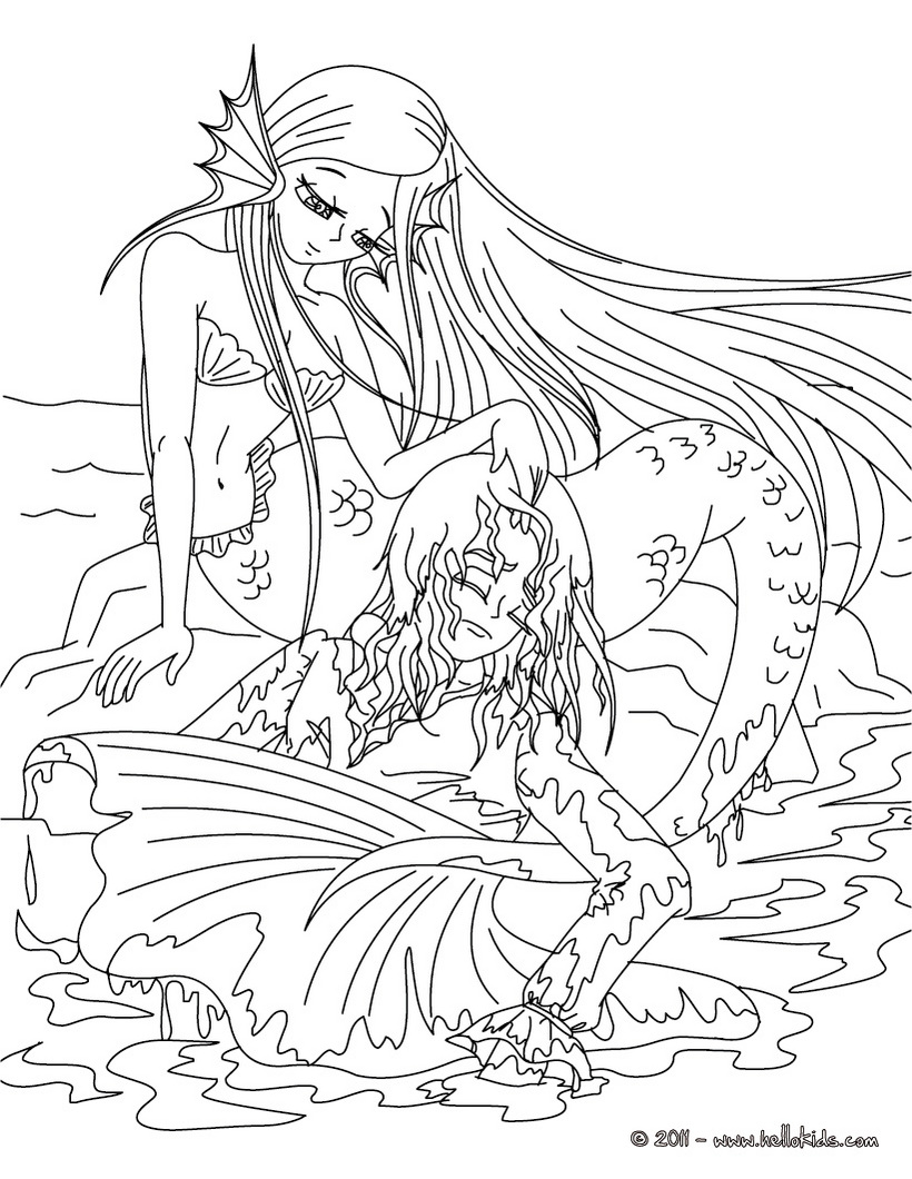 820x1060 Bright Inspiration Coloring Pages Of Mermaids Little Mermaid Color
