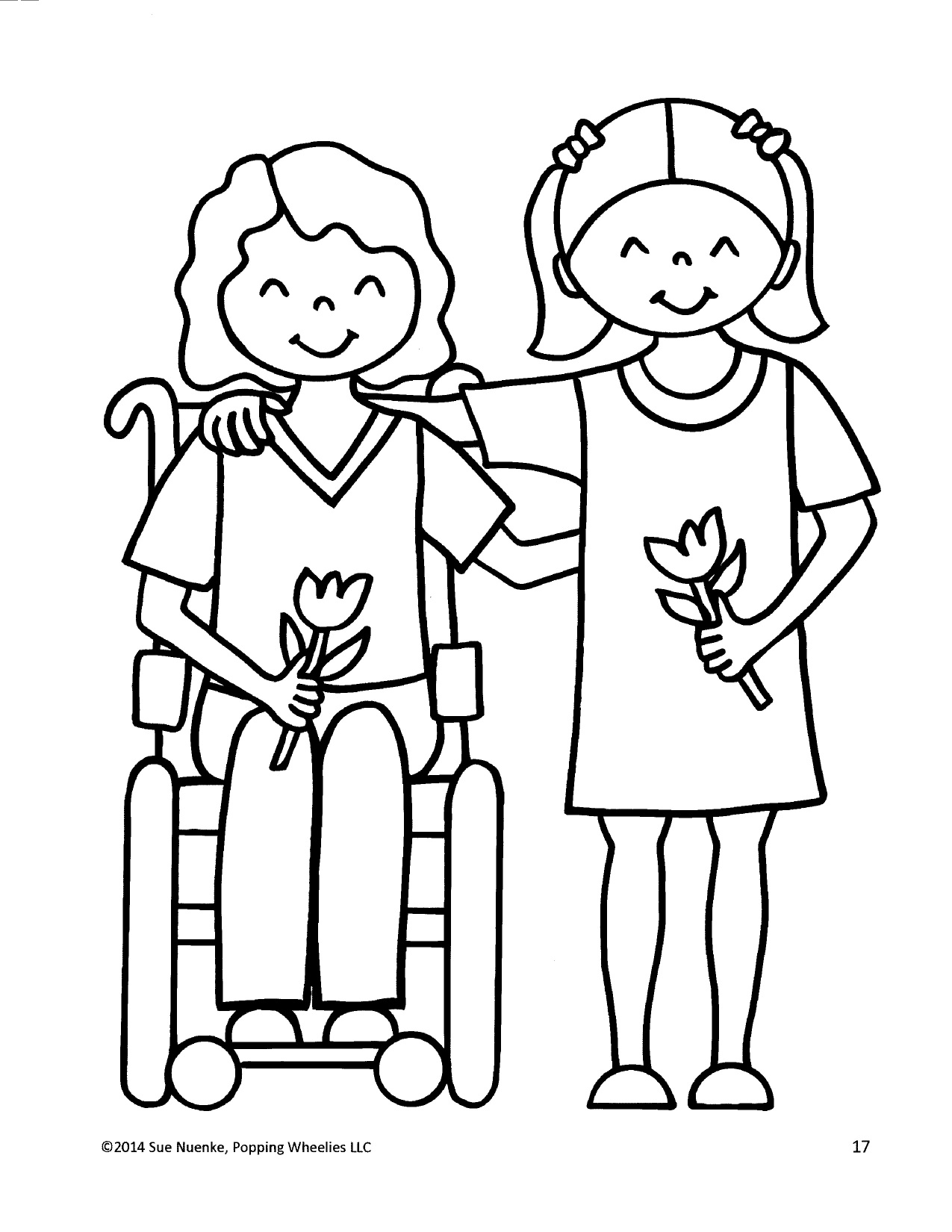 Real People Coloring Pages