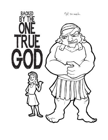 371x480 David And Goliath Coloring Page Children's Ministry Deals