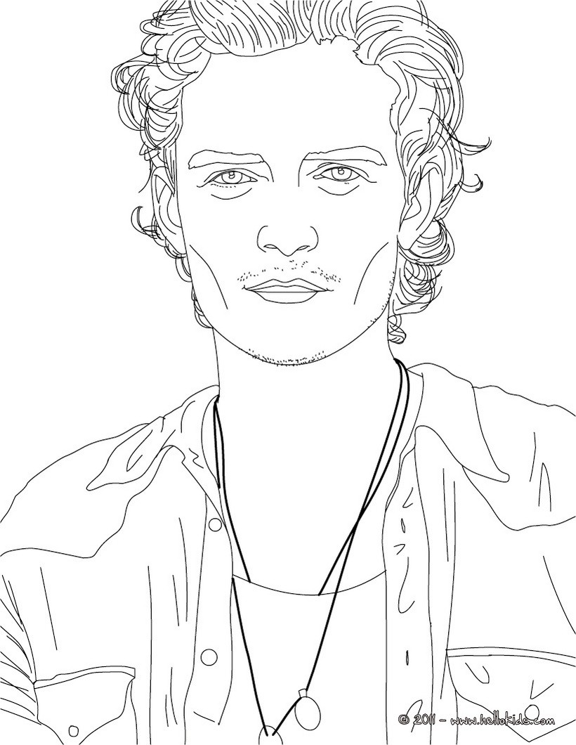 820x1060 Orlando Bloom Coloring Pages