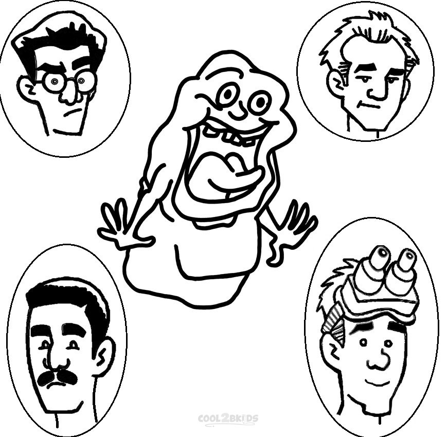 869x850 Printable Ghostbusters Coloring Pages For Kids