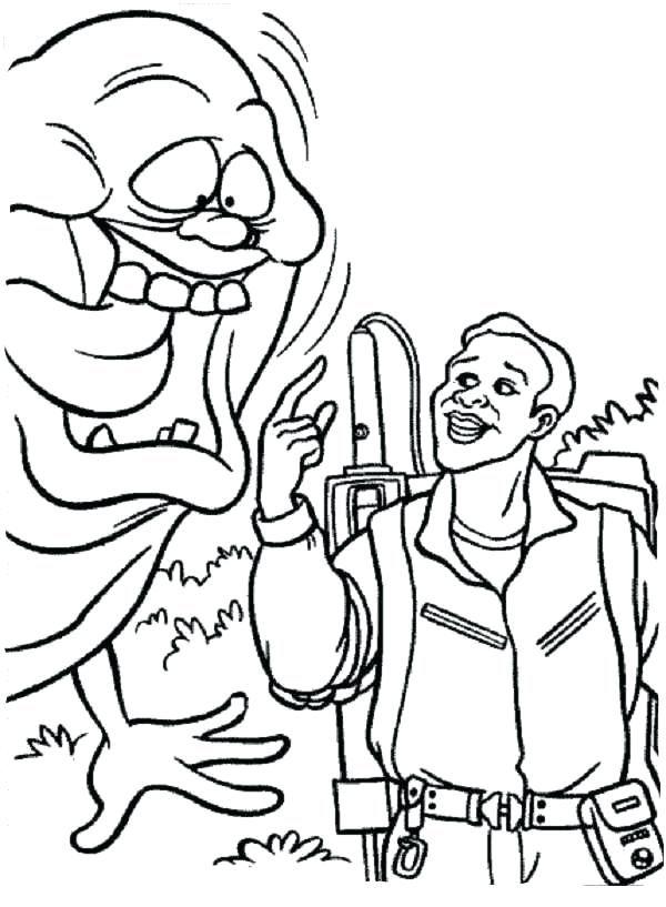 600x817 Coloring Pages Real Ghostbusters Murs