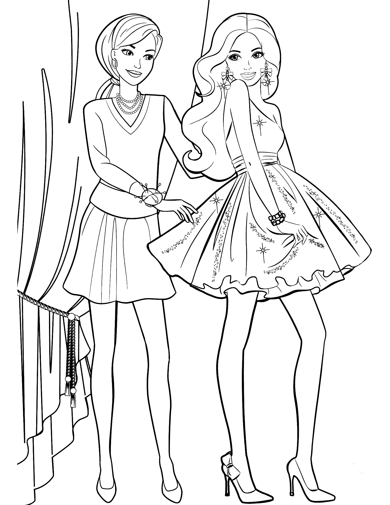 1640x2124 Coloring Pages Of Barbie And Her Friends Fresh Page