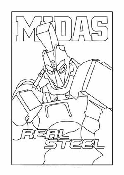 400x566 Real Steel Robot Coloring Pages