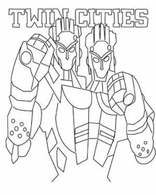 320x400 Robot Real Steel Twin Cities Coloring Page Pixels