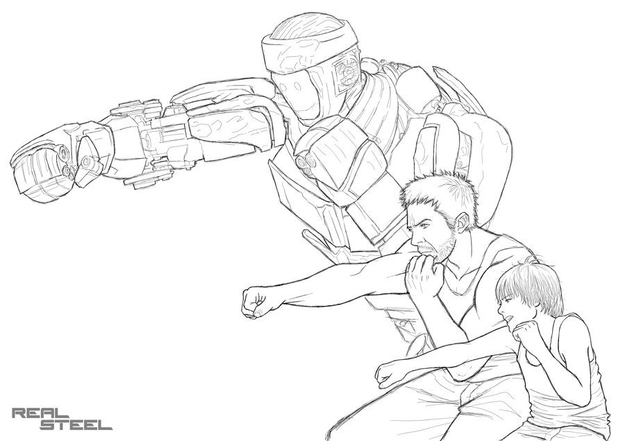 900x636 Real Steel Metro Coloring Pages