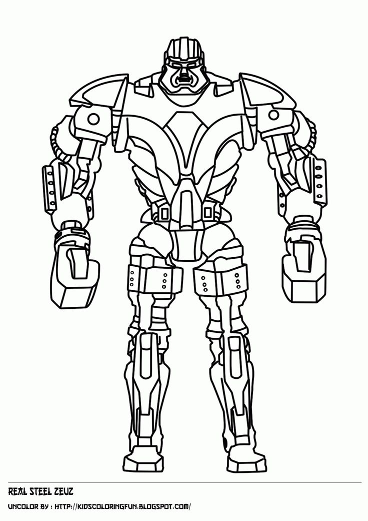736x1041 Coloring Pages Of Real Steel Robots