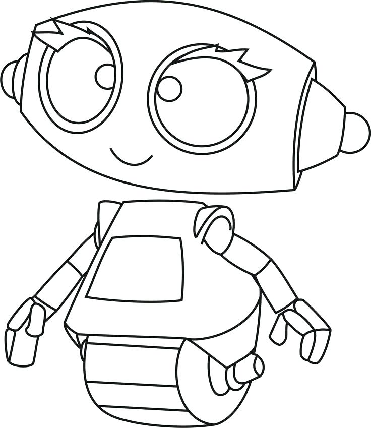 736x849 Coloring Pages Robot Robot Coloring Pages Little Robots Coloring