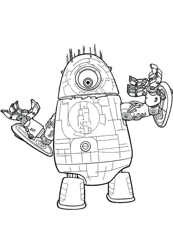 600x824 Coloring Pages Robots Monsters Vs Aliens Vs Coloring Pages