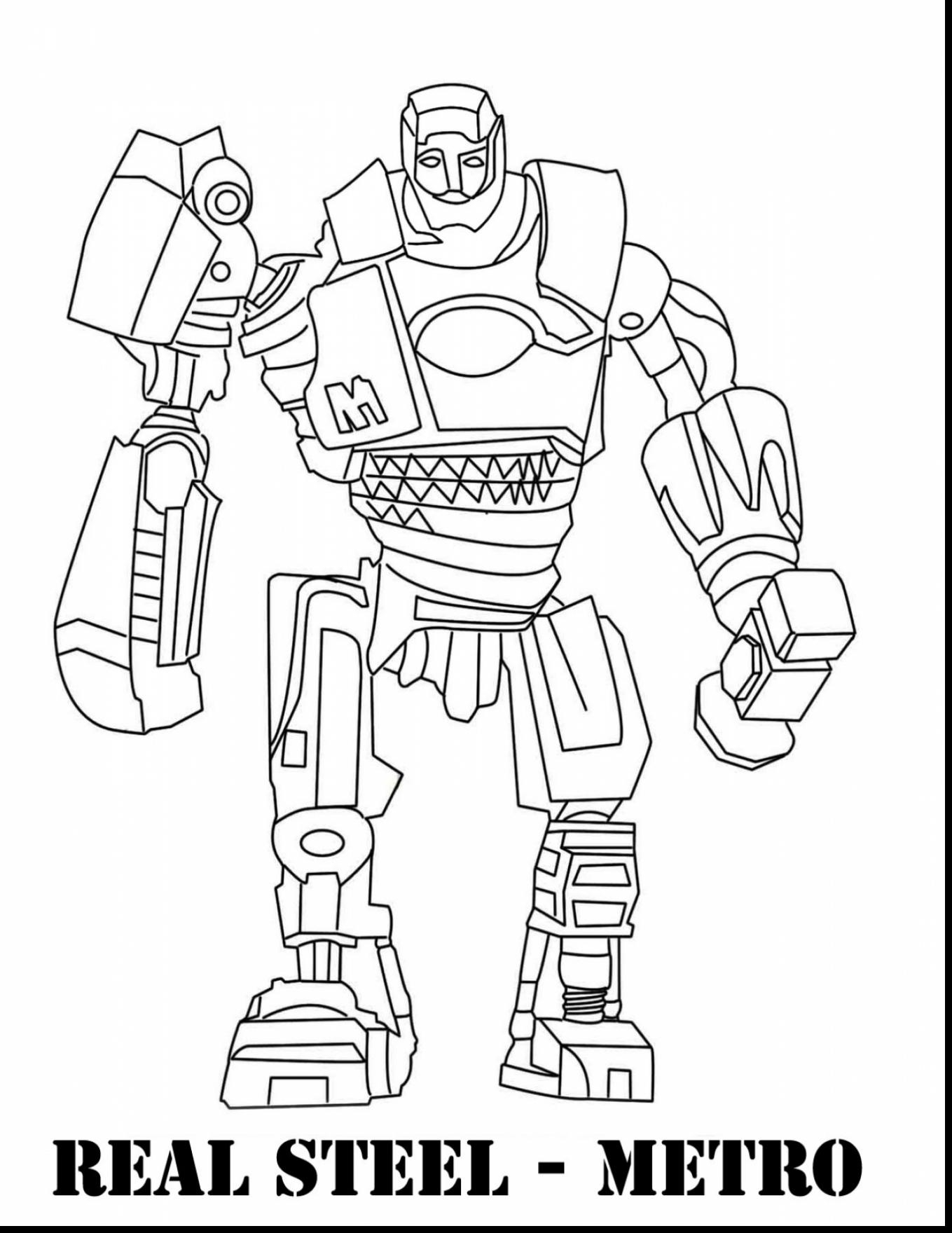 1359x1760 Real Steel Robot Coloring Pages Free Coloring For Kids