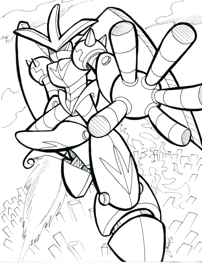 700x918 Coloring Pages Robot