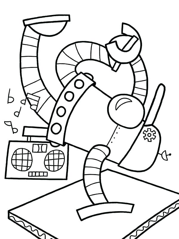 600x800 Coloring Pages Of Robots Coloring Pages Draw Robots Robots How