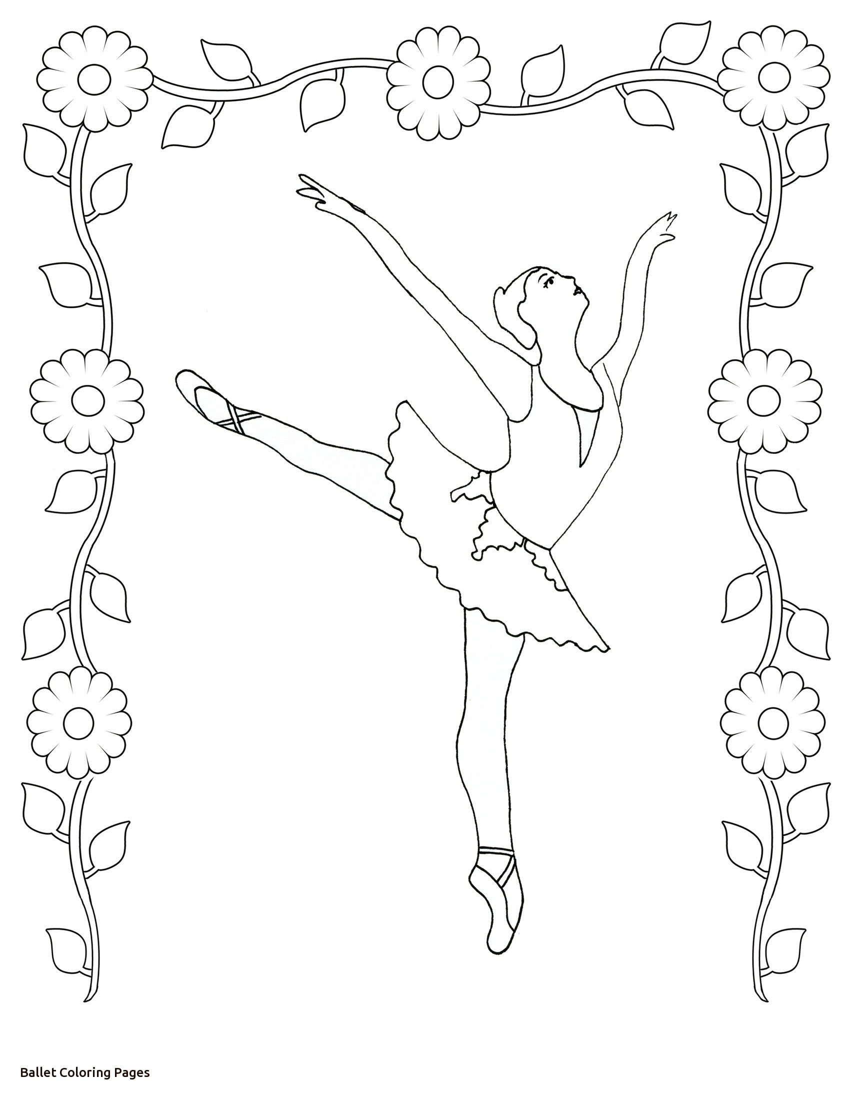 1700x2200 Coloring Pages Realistic Ballet Colouring Angelina Ballerina