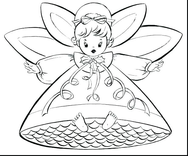 618x514 Angel Coloring Pages For Preschool Angel Colouring Page Angel