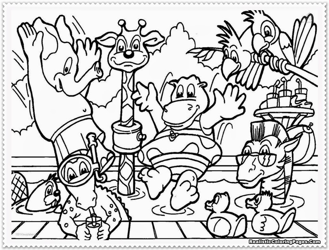 1066x810 Sturdy Zoo Animals Pictures To Color Easily Animal Unusual