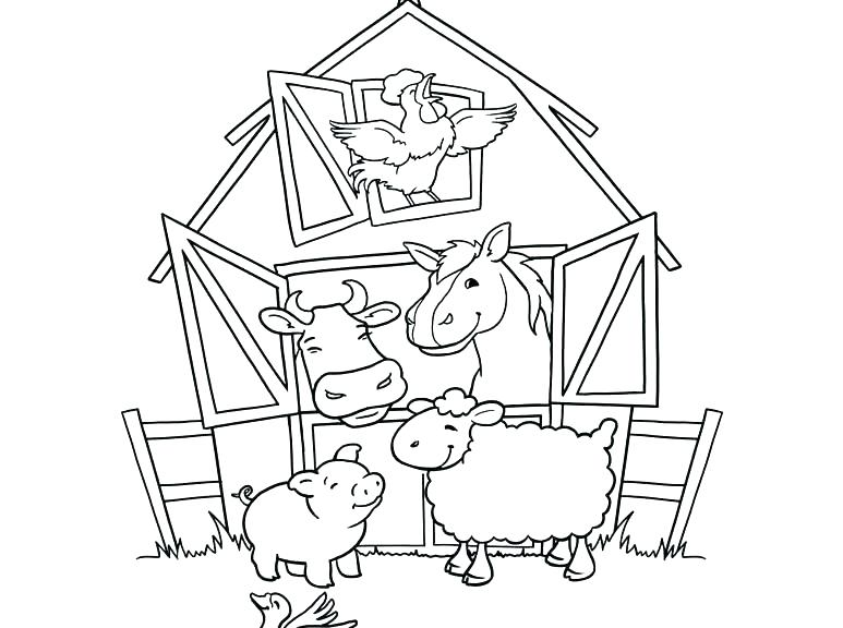 773x576 Realistic Animal Coloring Pages Coloring Animal Pages Farm Animal