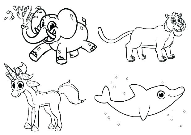 618x437 Animal Coloring Pages Baby Animal Coloring Sheets Baby Animal