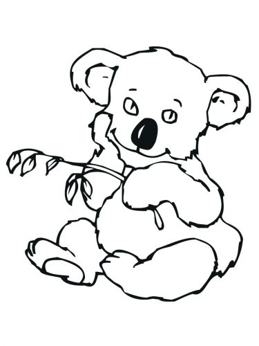 375x500 Coloring Pages Koala Coloring Pages Cute Realistic Bear Koala