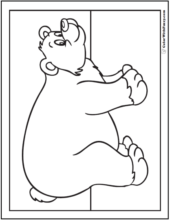 590x762 Bear Coloring Pages Grizzlies, Koalas, Pandas, Polar, And Teddy