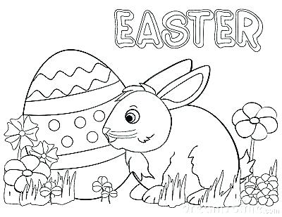 400x309 Bunny Coloring Pages Cottontail Rabbit Baby Bunny Line Art Bunny