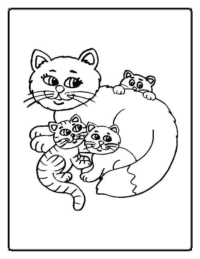 671x869 Cat Coloring Pages Printable With Coloring Pages Cats Together