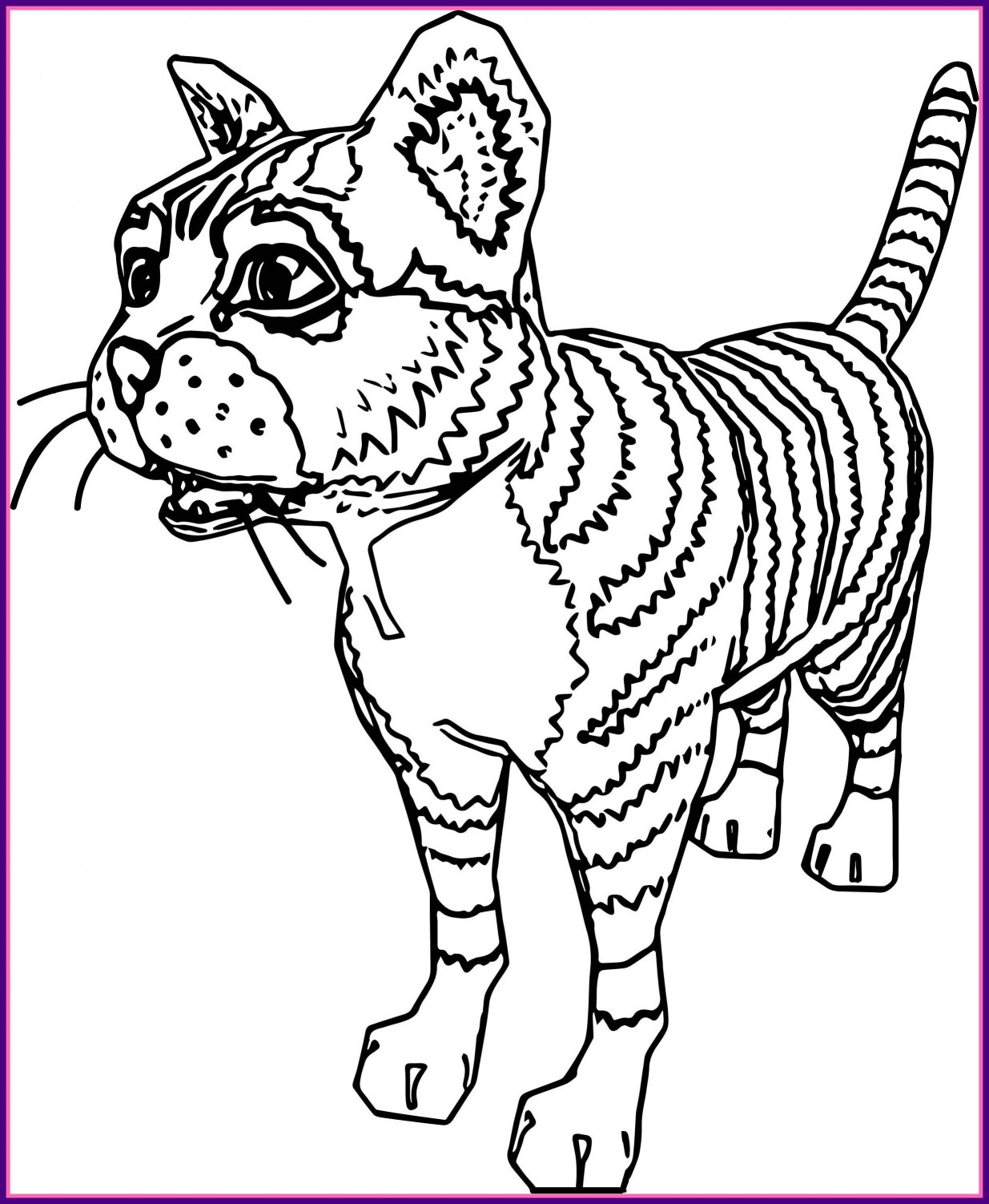 1235x1502 Best Realistic Cat Coloring Page Wecoloringpage Image For Face