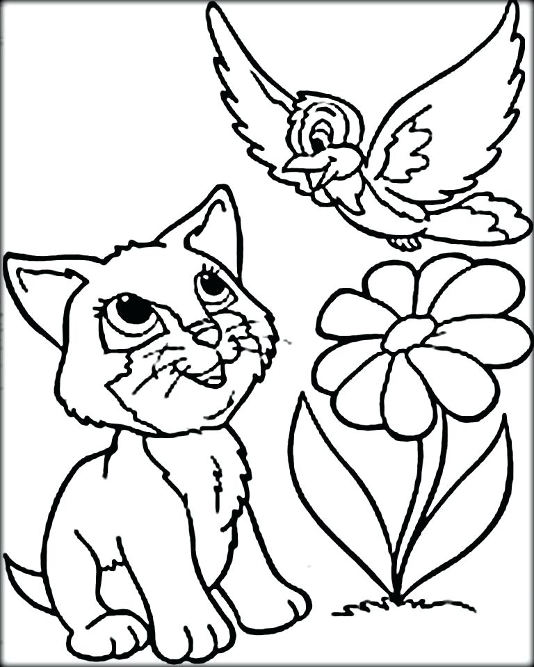 768x959 Kitty Cat Coloring Pages Printable Kids Coloring Cute Cat Coloring