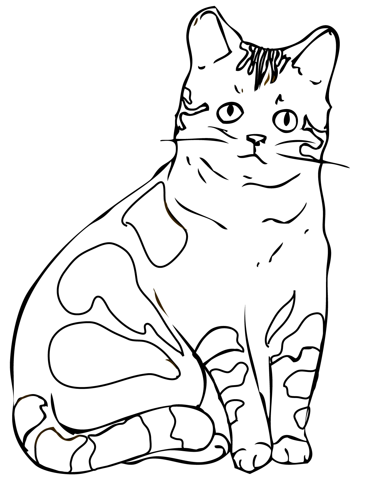 1275x1650 Printable Cats Fly Fish Coloring Page