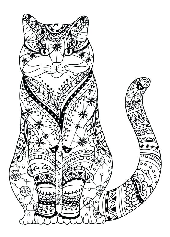 564x786 Cartoon Cat Coloring Pages Printable